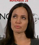 Angelina Jolie cry
