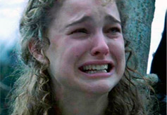 Natalie Portman crying
