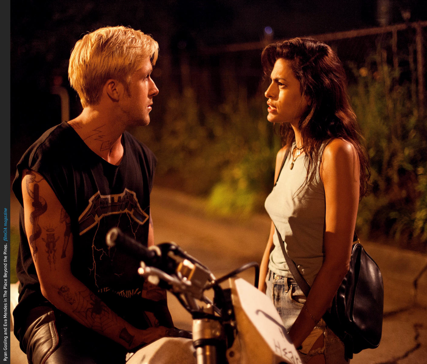Ryan Gosling bike metallica shirt Eva Mendes The Place Beyond the Pines