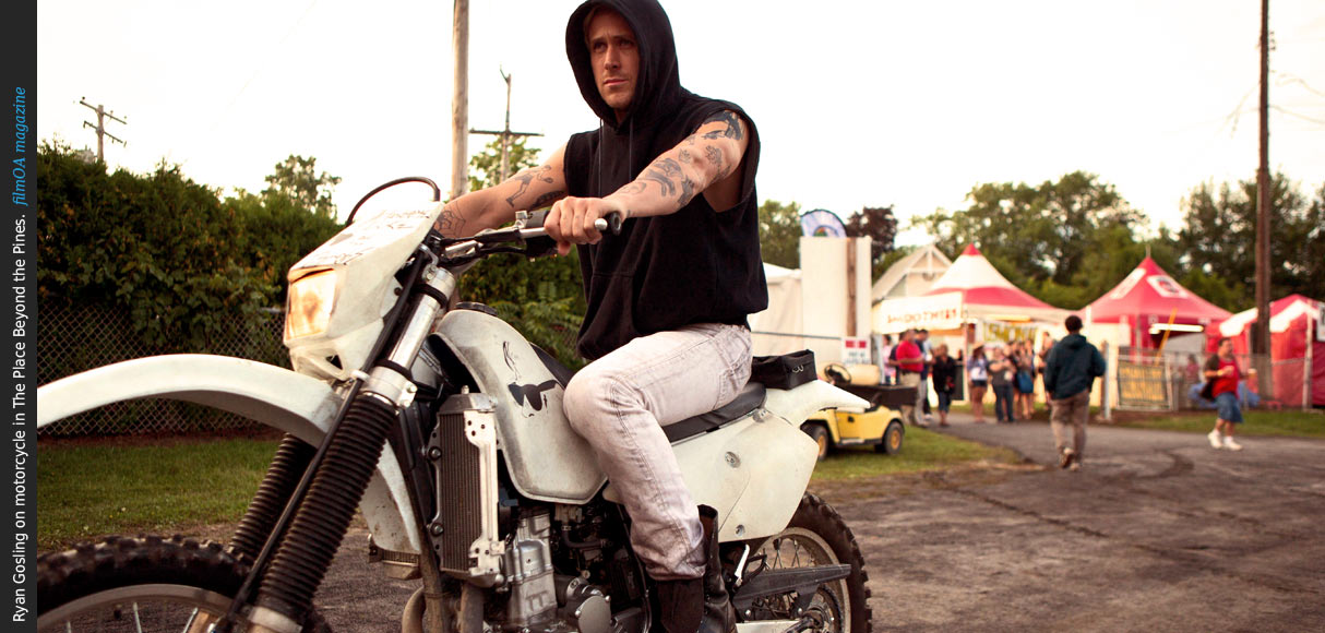 Ryan Gosling motorcycle hoodie Place Beyond the Pines film