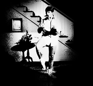 Tom Cruise Risky Business poster icon black and white