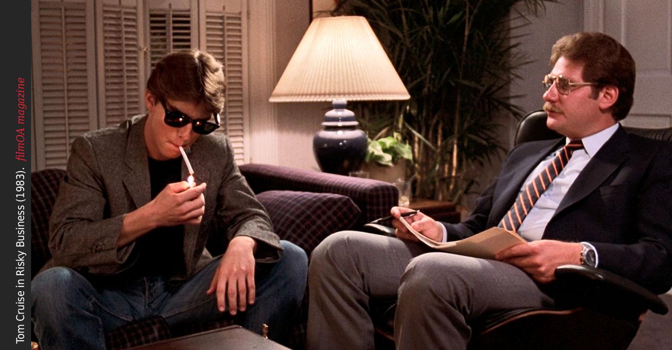 Tom Cruise Risky Business smoke glasses