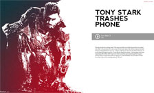 Tony Stark trashes phone