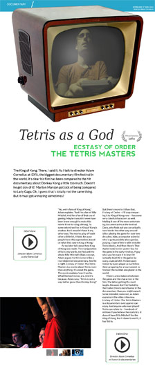 Tetris as a God. Ecstasy of Order: The Tetris Masters