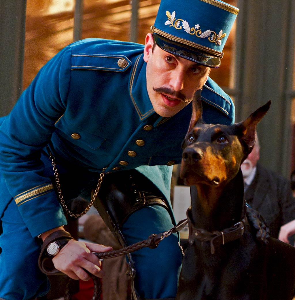 Sacha Baron Cohen and Dog in Hugo