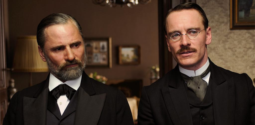 Viggo Mortensen and Michael Fassbender in A Dangerous Method