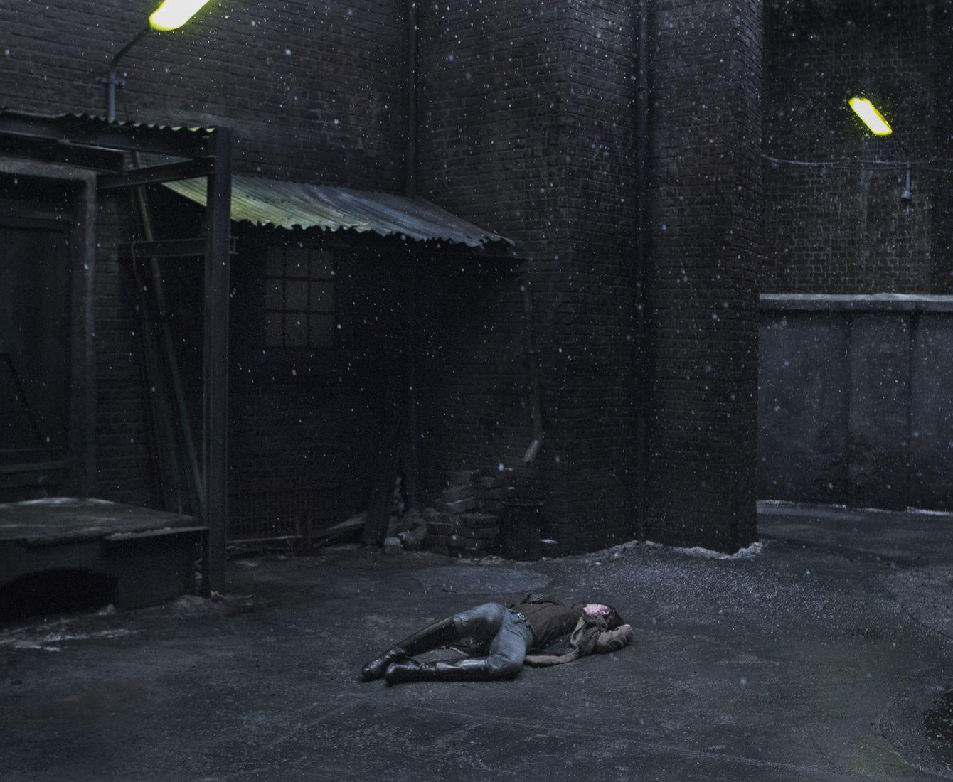 Lying on the floor in Nymphomaniac