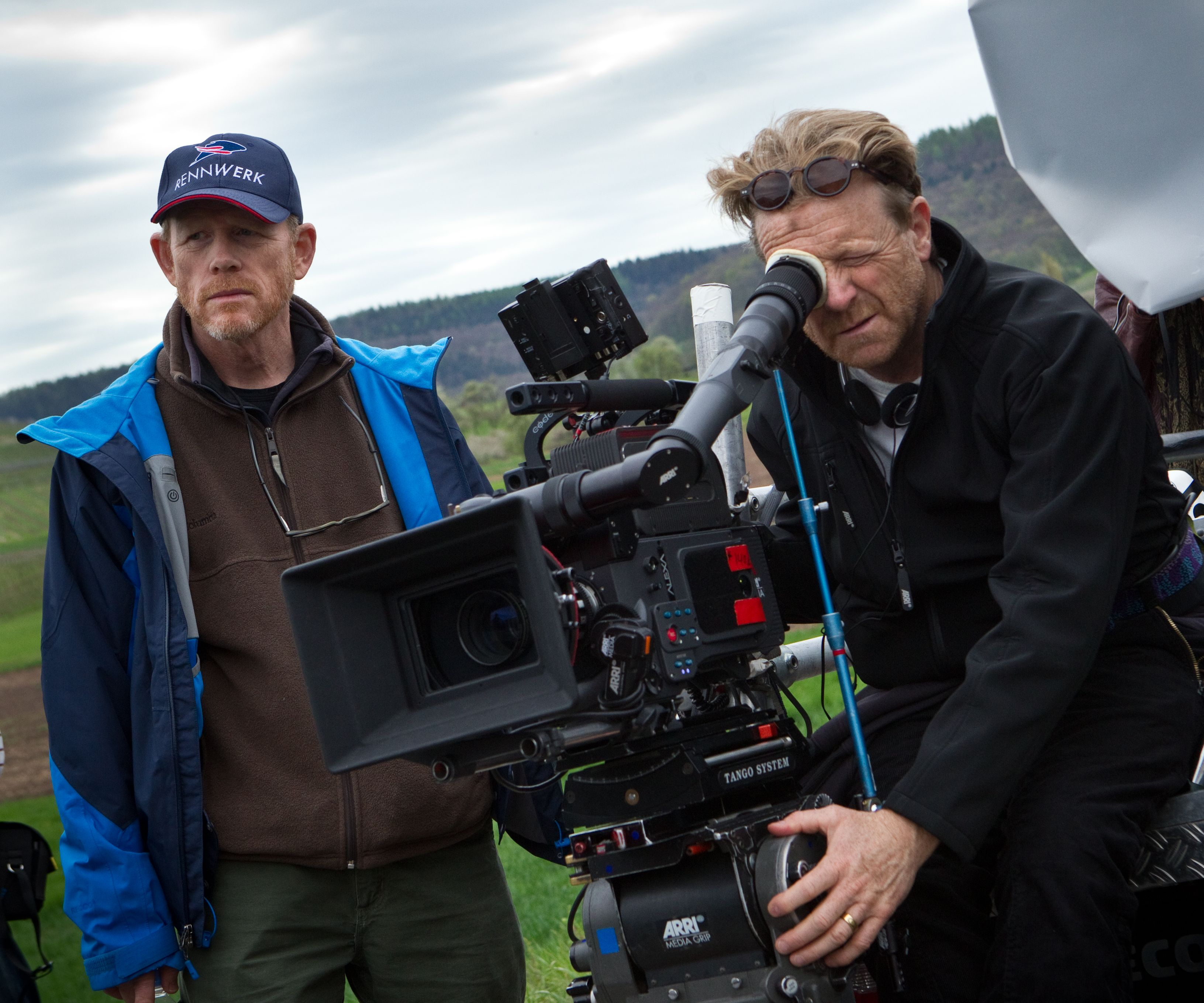 Ron Howard filming Rush