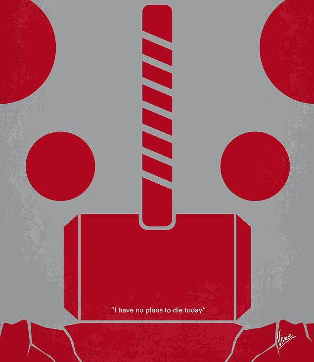 Minimalistic Thor poster art