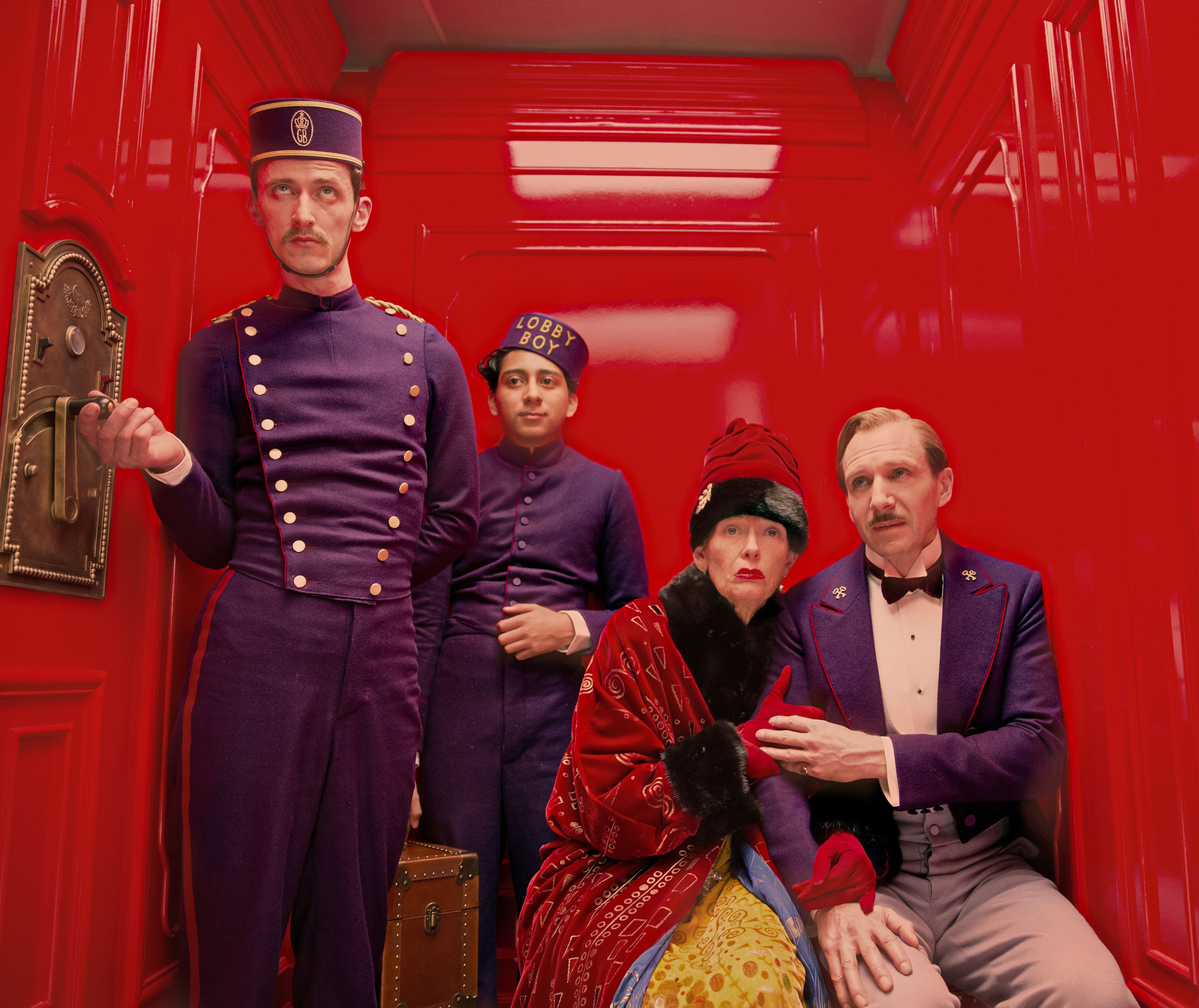 Bold colors in Wes Anderson's The Grand Budapest Hotel