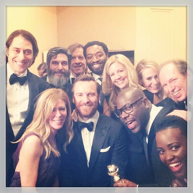 12 Years A Slave Cast & Crew celebrate Golden Globe win with