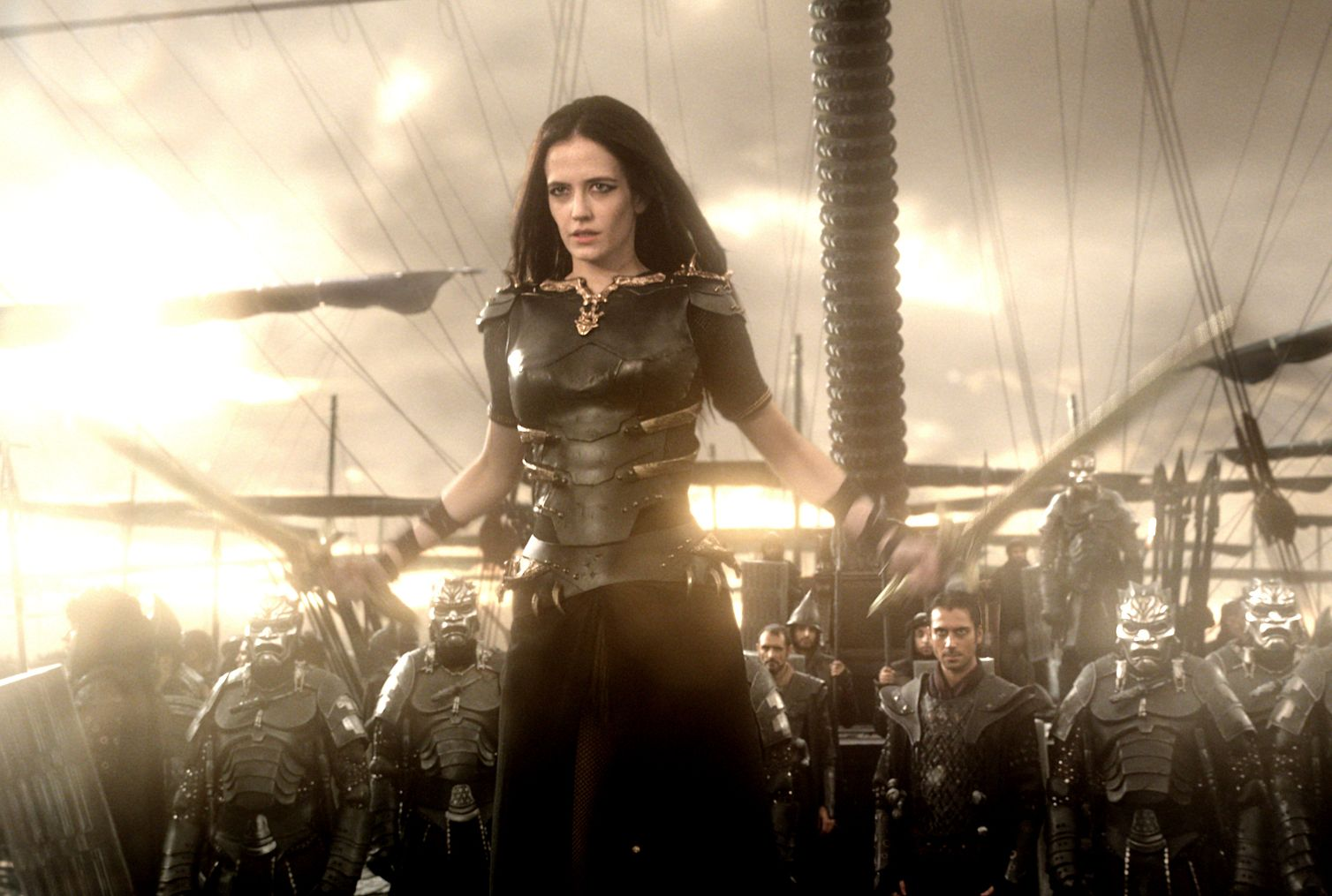 Eva Green as Artemisia leading an army in 300: Rise of an Em