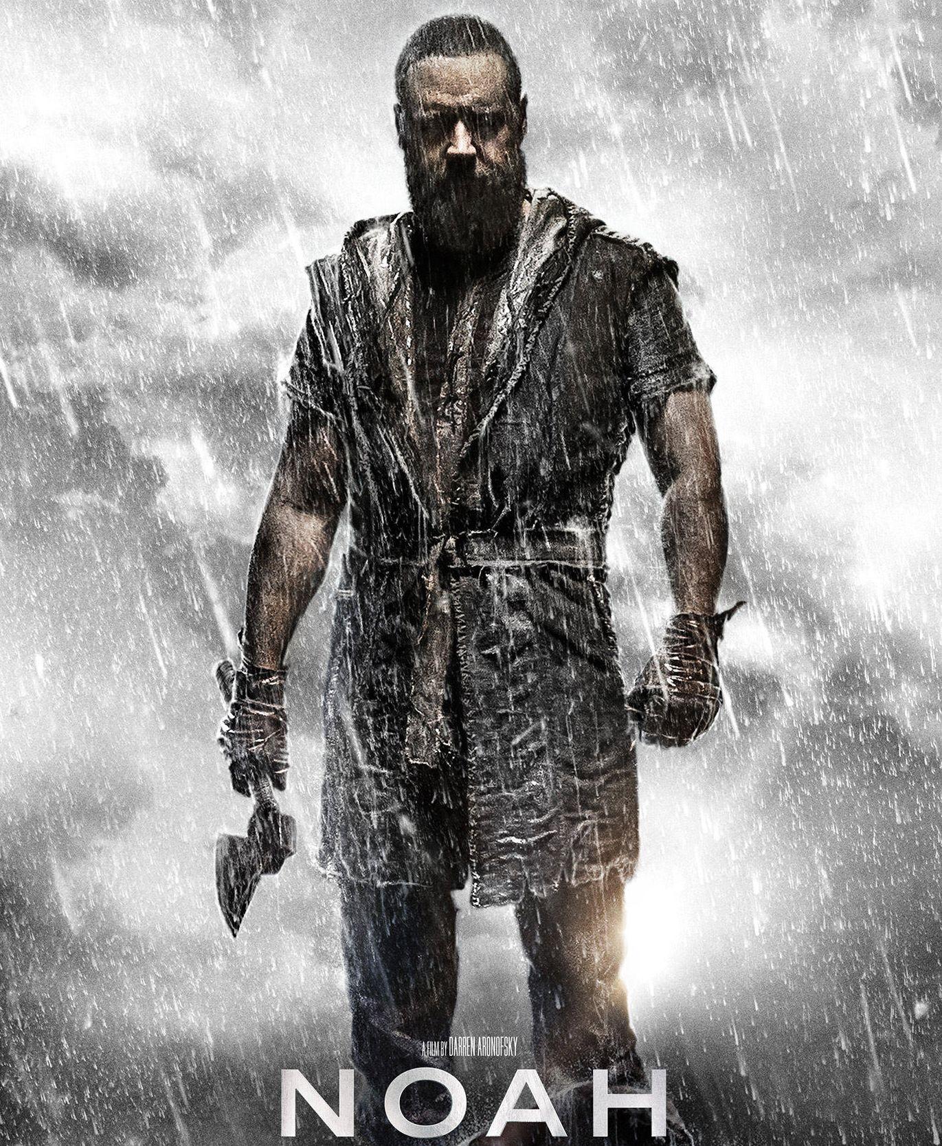 Russell Crowe, dark eyes and more rain, Noah