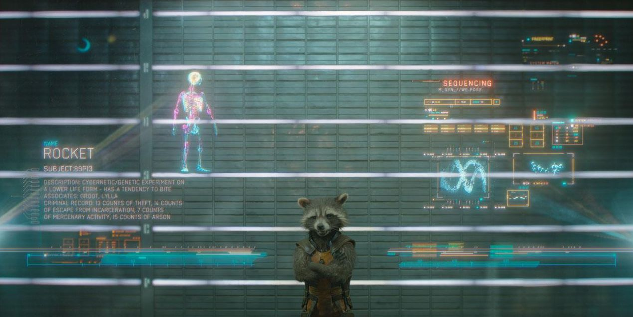 Rocket in Guardians Of The Galaxy