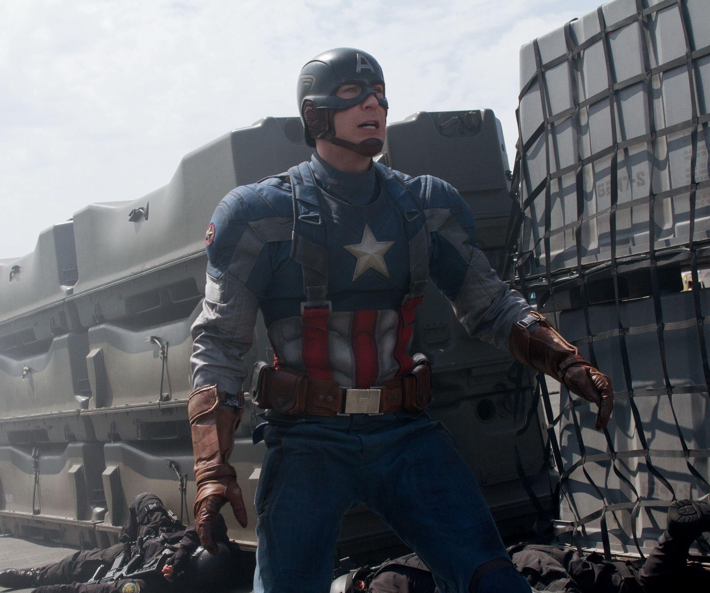 Chris Evans as Captain America: The Winter Soldier