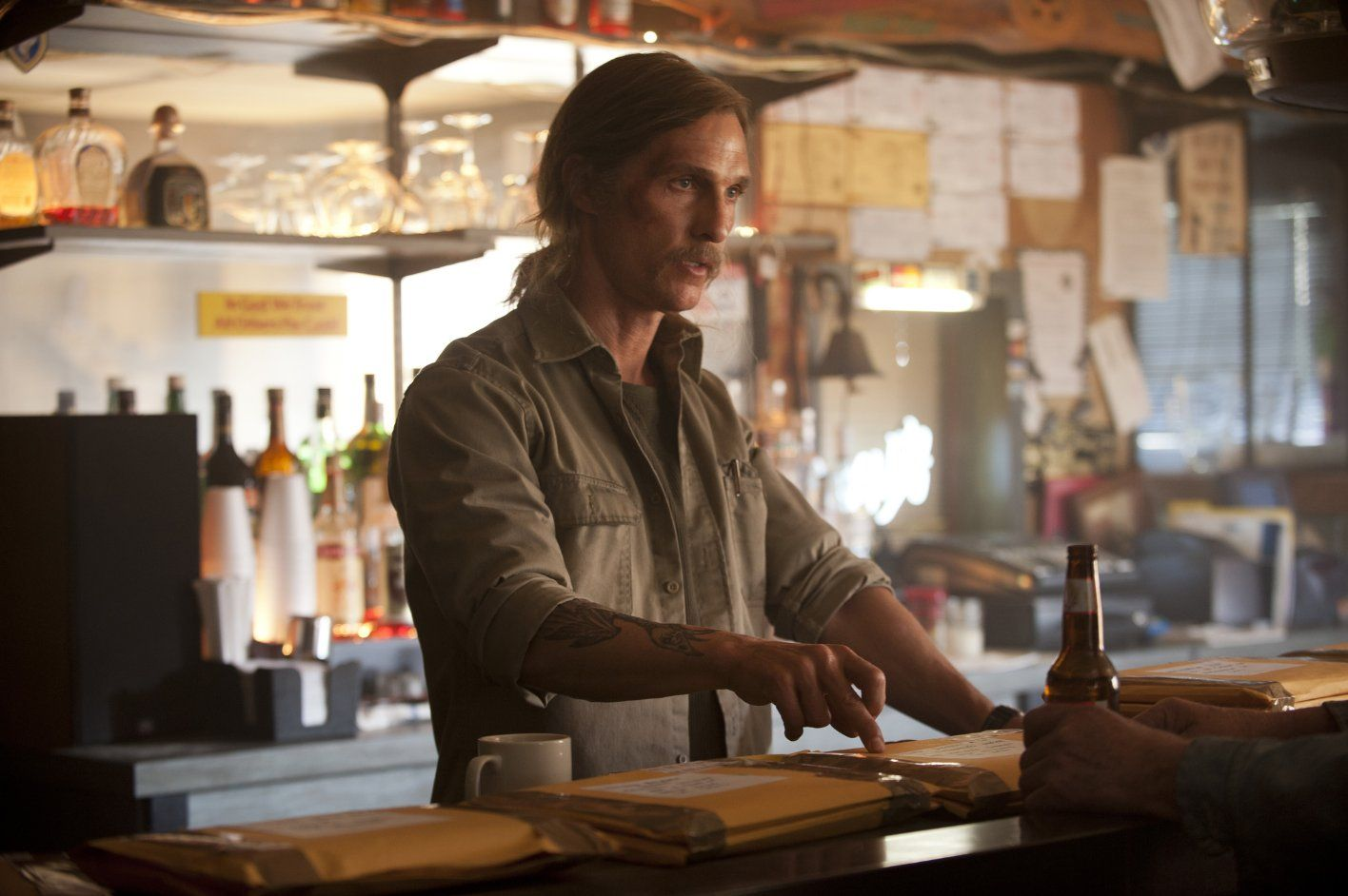 Det. Rust Cohle sends out the evidence
