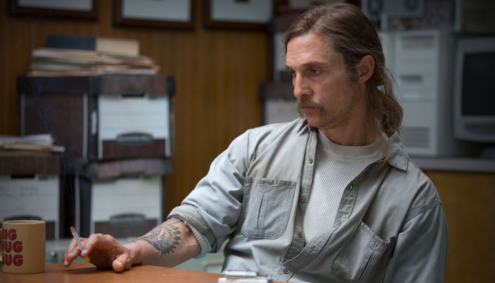"Matthew McConaughey as Det. Rustin ""Rust"" Cohle"