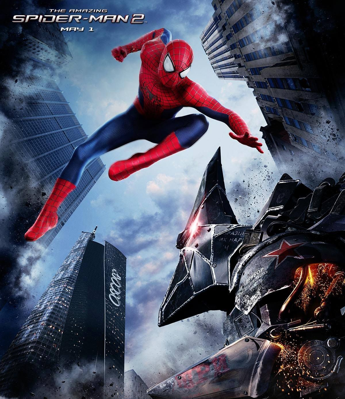 The Rhino in a New The Amazing Spider-Man 2 Promo Image