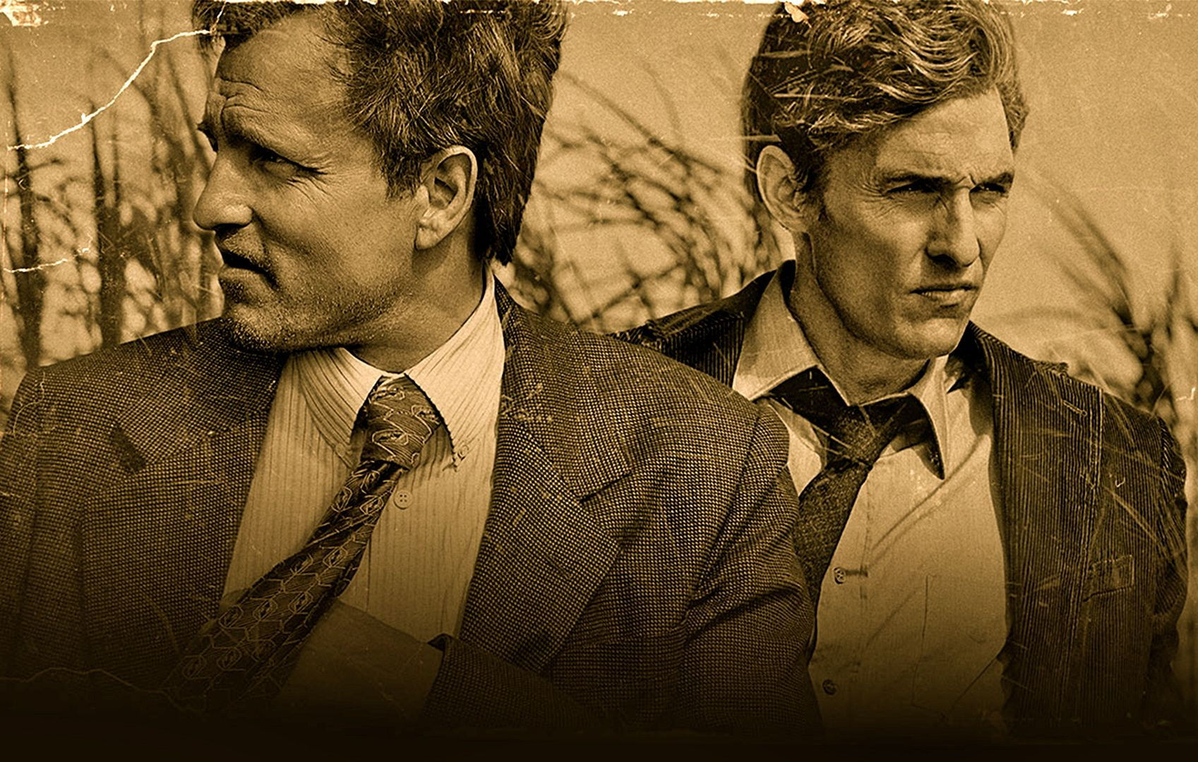 Det. Marty Hart and Det. Rust Cohle