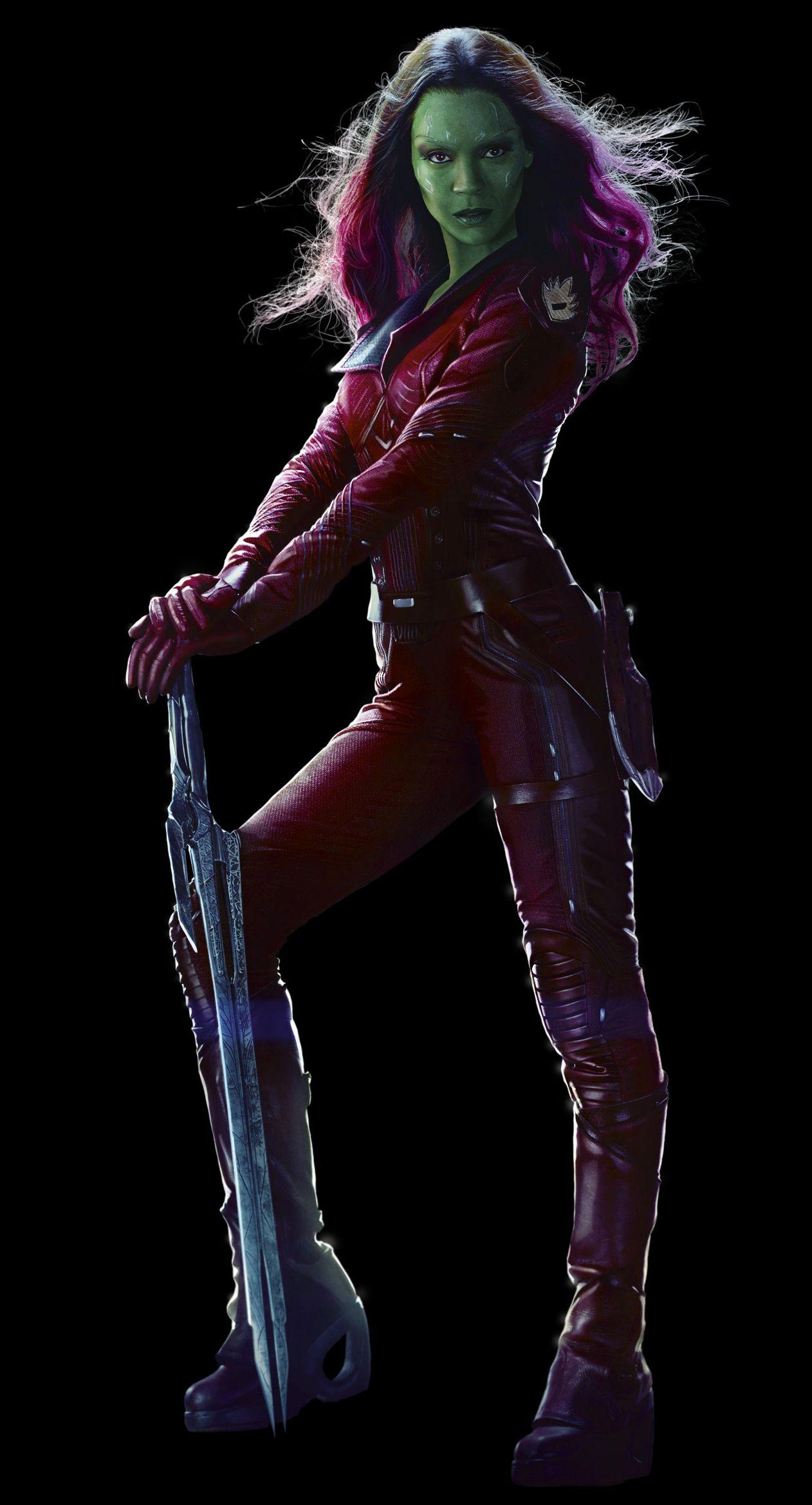 Zoe Saldana as Gamora character