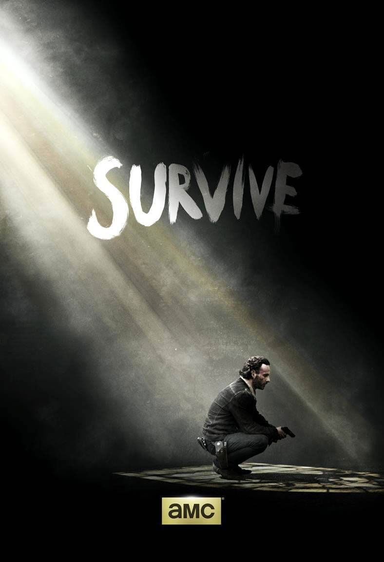 """Survive"" teaser poster for The Walking Dead, Season 5"