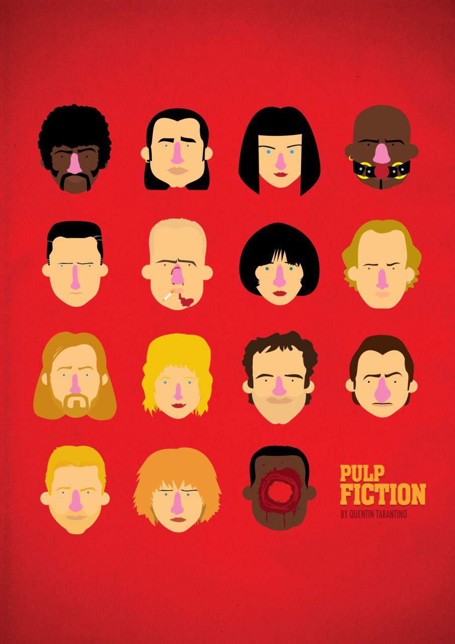 Pulp Fiction Minimal Movie Poster 2