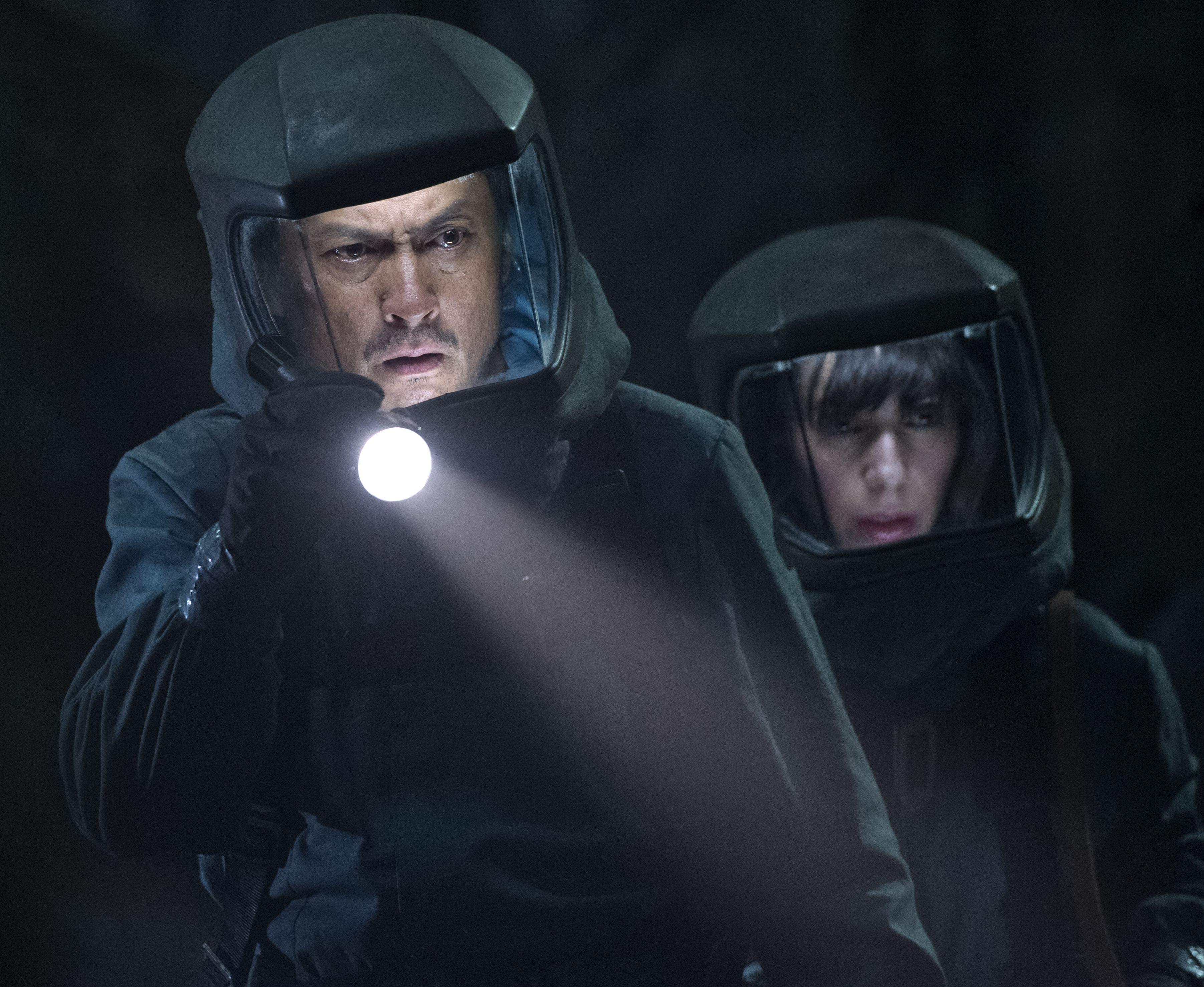 Ken Watanabe and Sally Hawkins suit up in Godzilla
