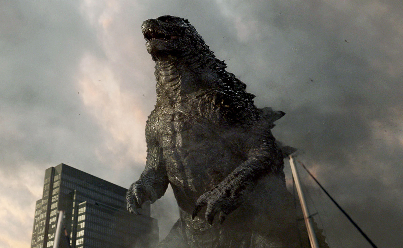 Godzilla full frontal, destructing the city