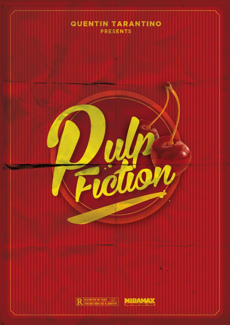 Pulp fiction movie posters