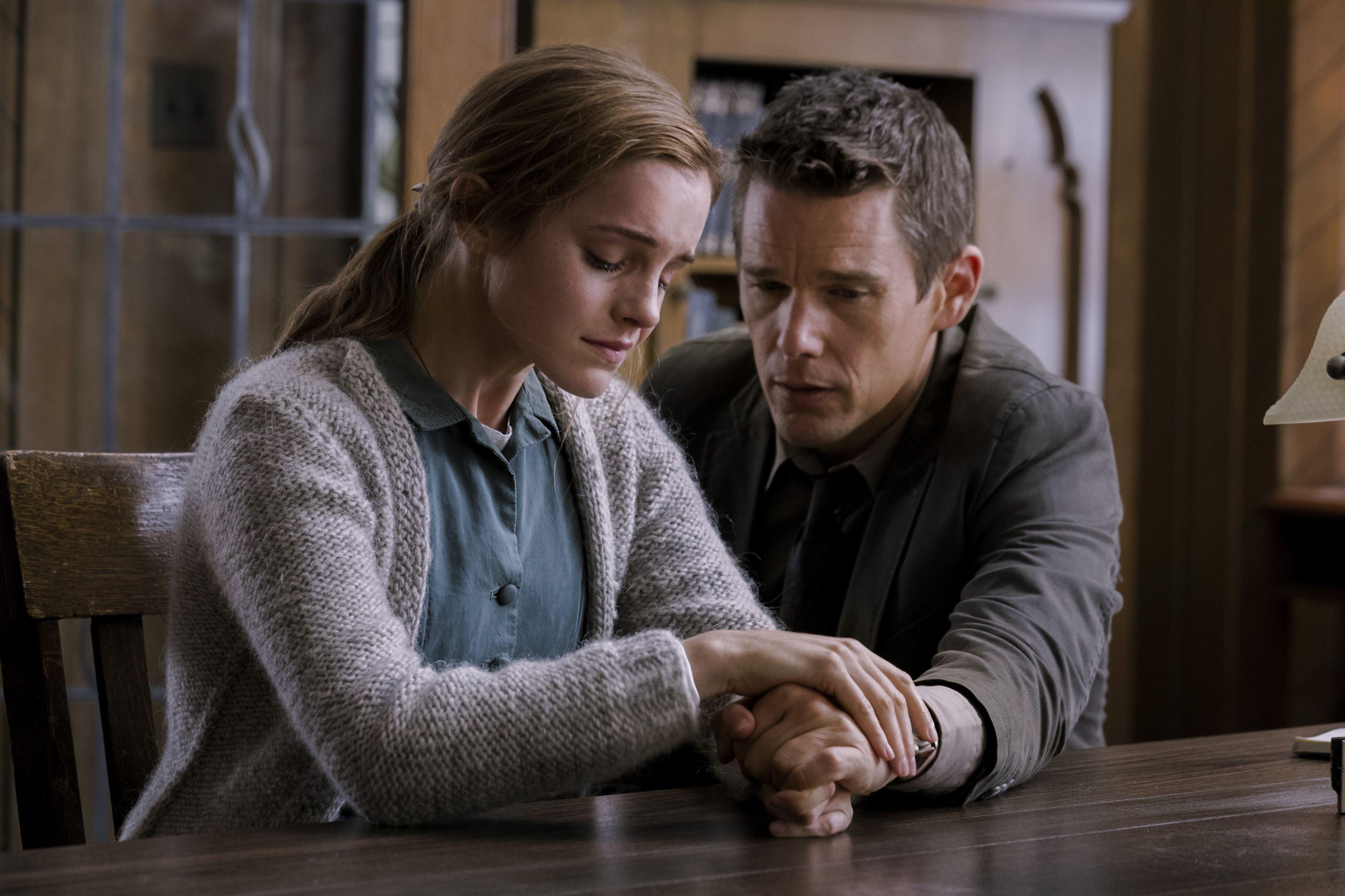 Ethan Hawke and Emma Watson in 'Regression'