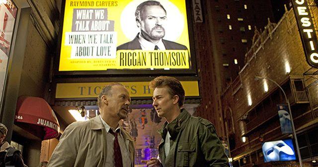 Edward Norton and Michael Keaton in Birdman