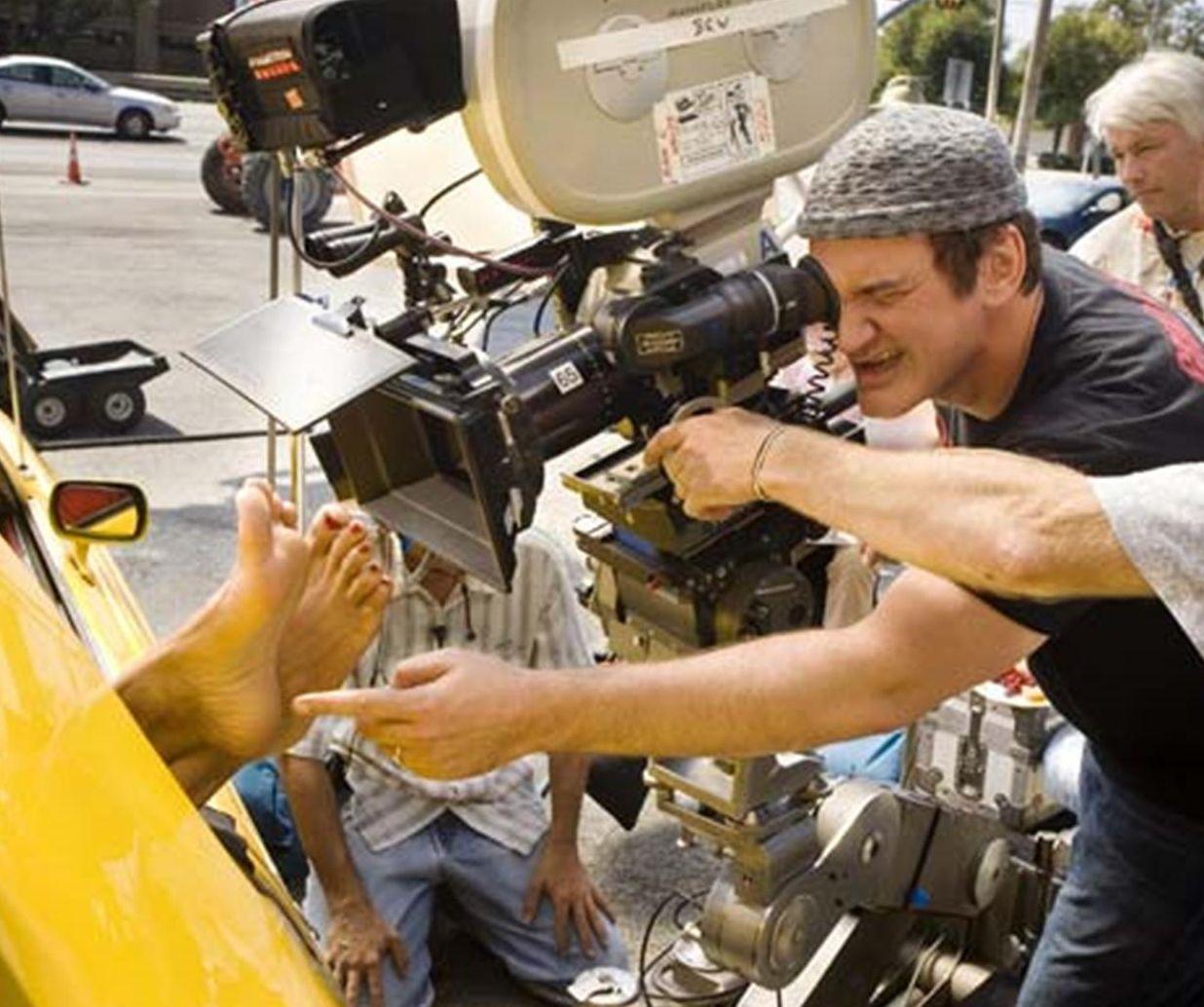 Quentin Tarantino filming some feet