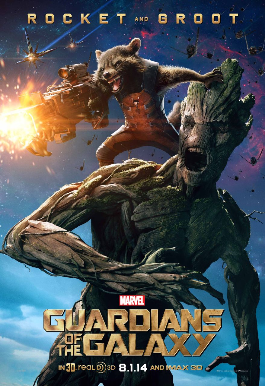 Guardians of the Galaxy Character Poster for Rocket and Groo