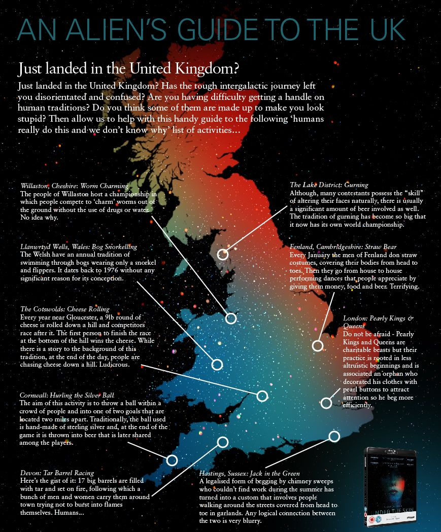Under the Skin: An Aliens Guide to the UK