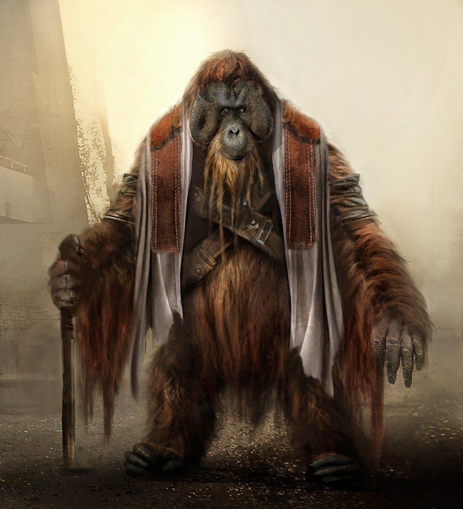 Another Ape Wearing Primitive Clothing