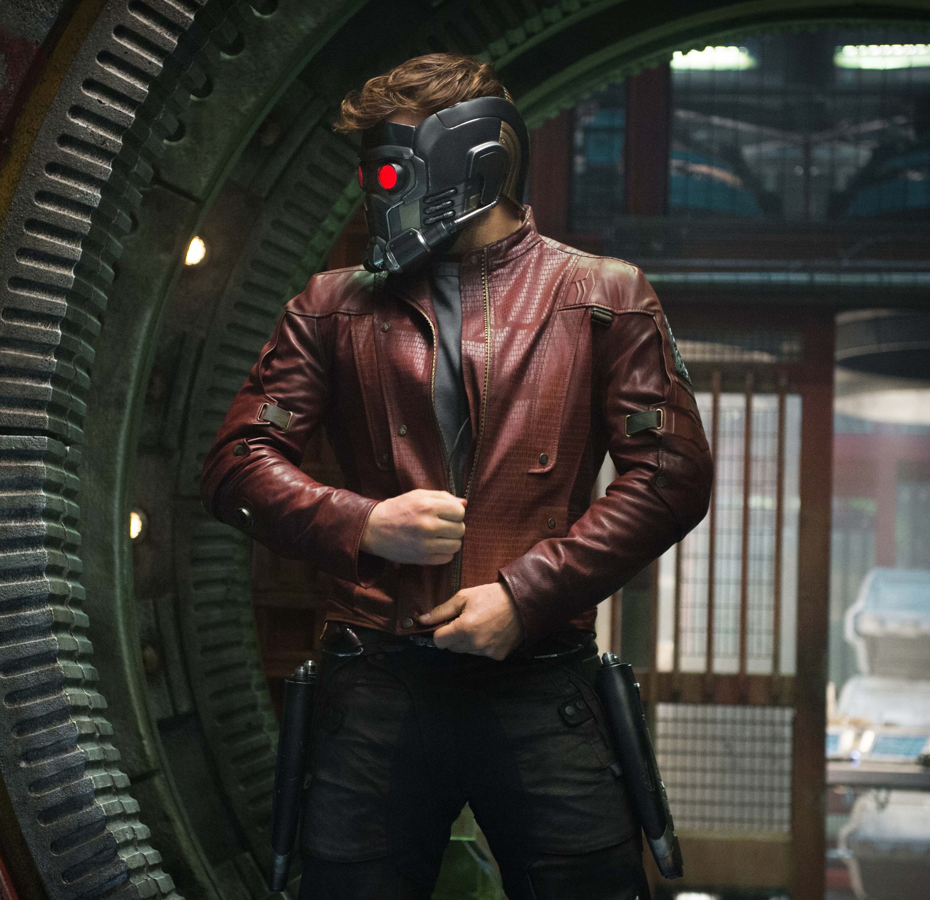 Peter Quill Puts On Mask Cultjer
