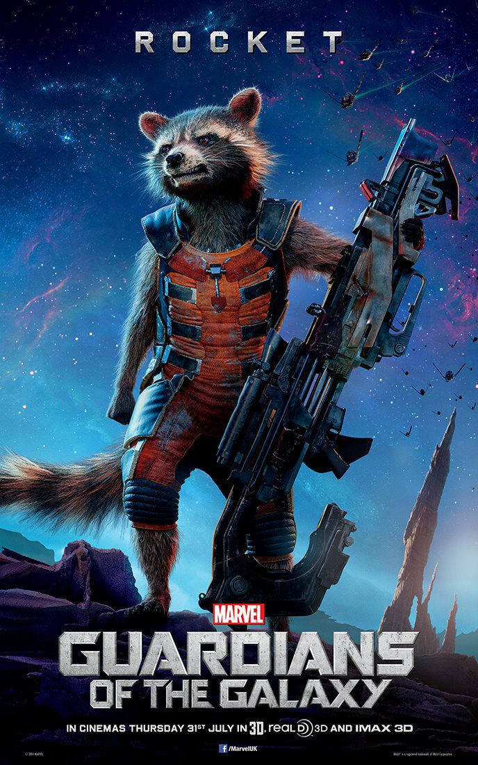 New Guardians of the Galaxy Rocket Poster