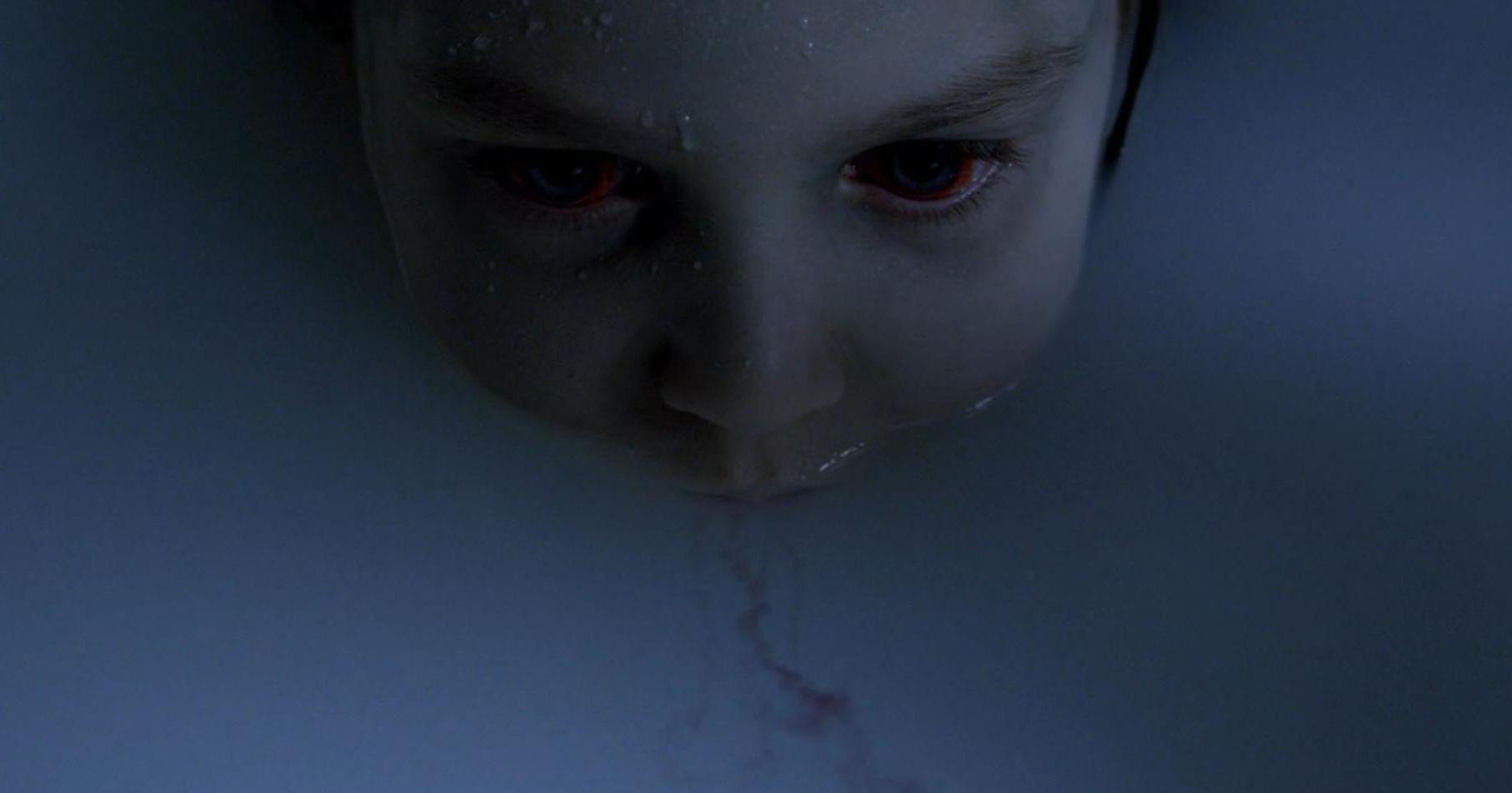 Scary little strigoi in the bathtub. The Strain