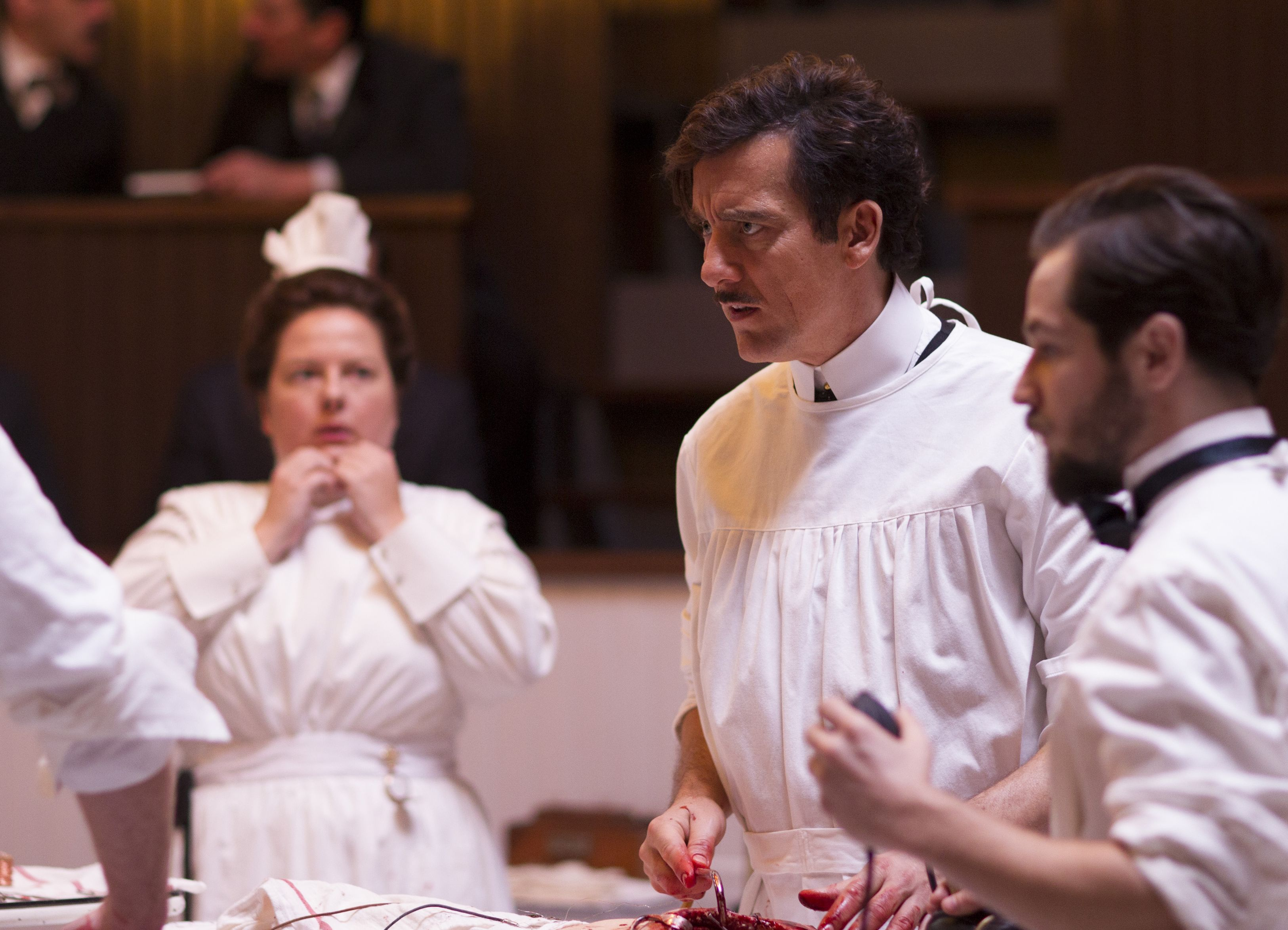 Clive Owen angry in The Knick