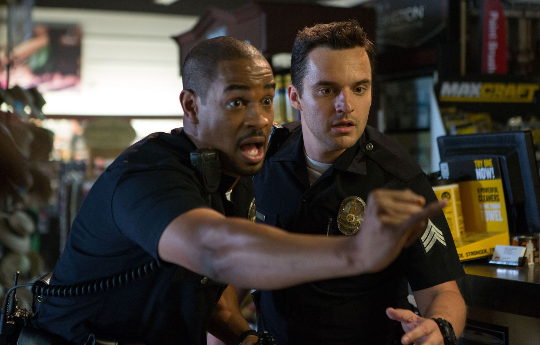 Damon Wayans Jr. pinky swear. Let's Be Cops