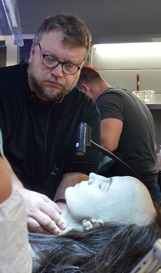 Guillermo Del Toro behind the scenes, make-up for The Strain