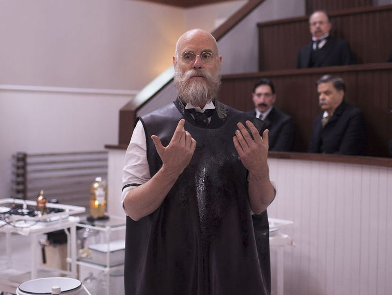 Matt Frewer in The Knick ready to operate