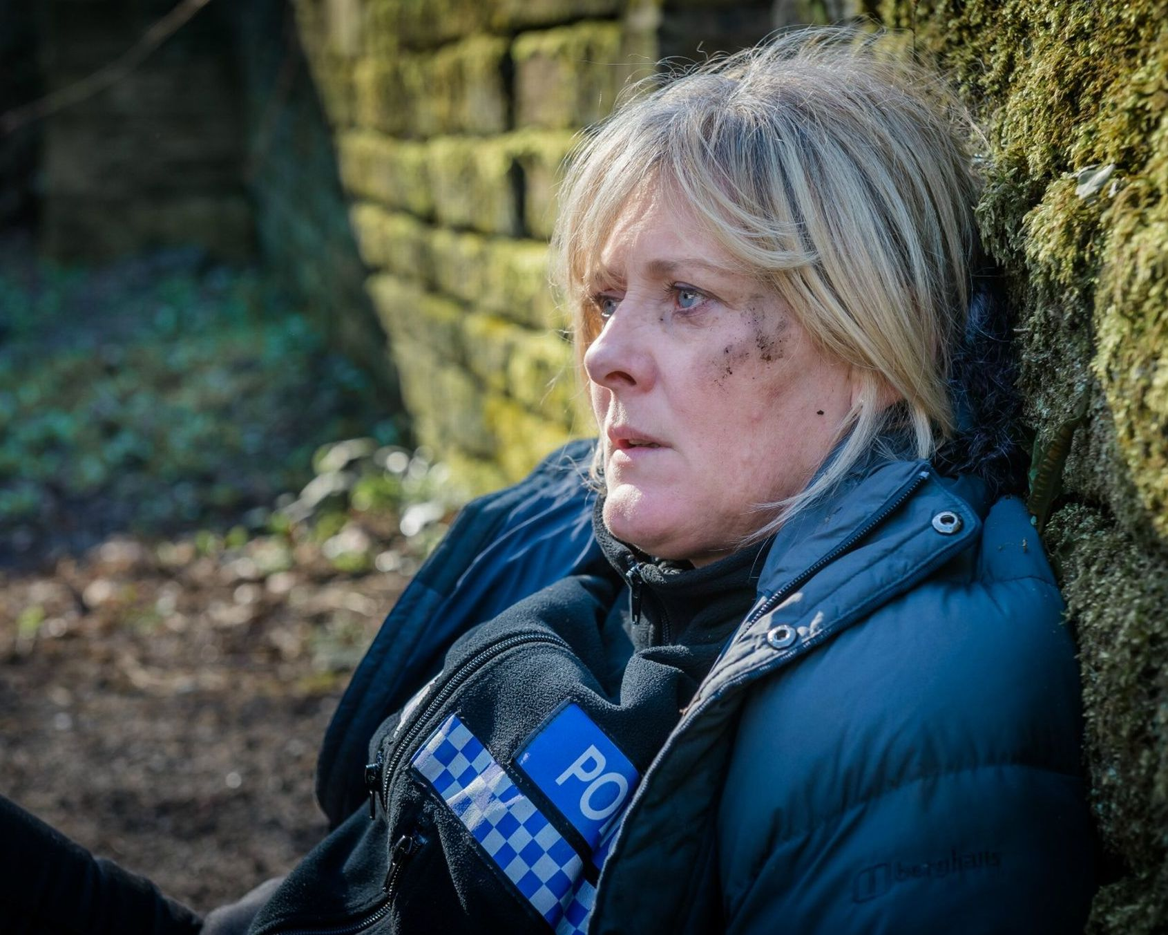 Sarah Lancashire in the dirt