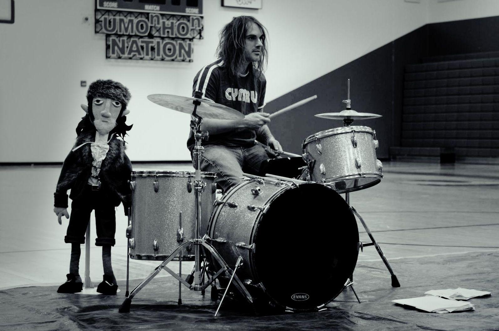 Drummer with John Evans puppet