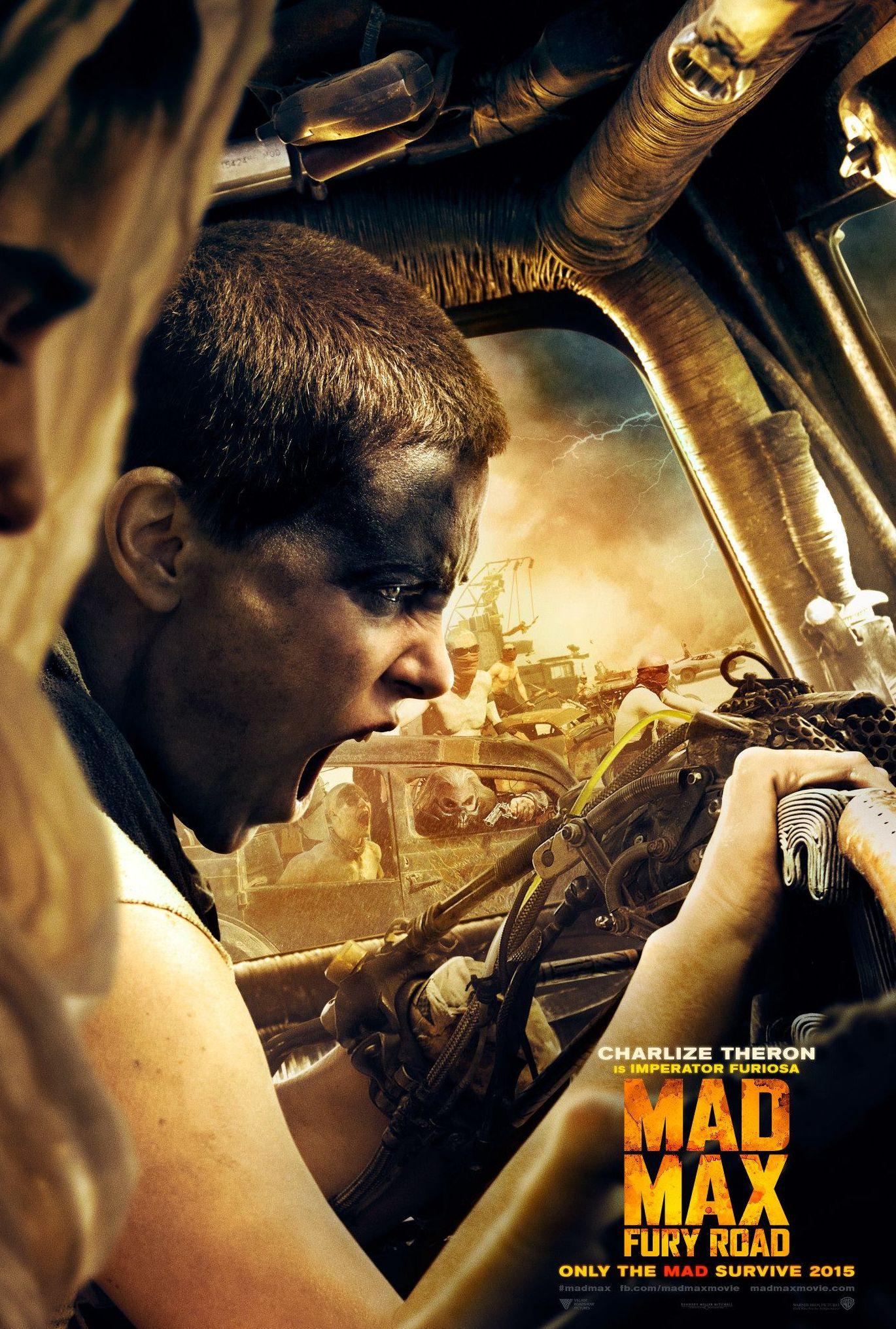 Mad Max: Fury Road Imperator Furiosa scream poster