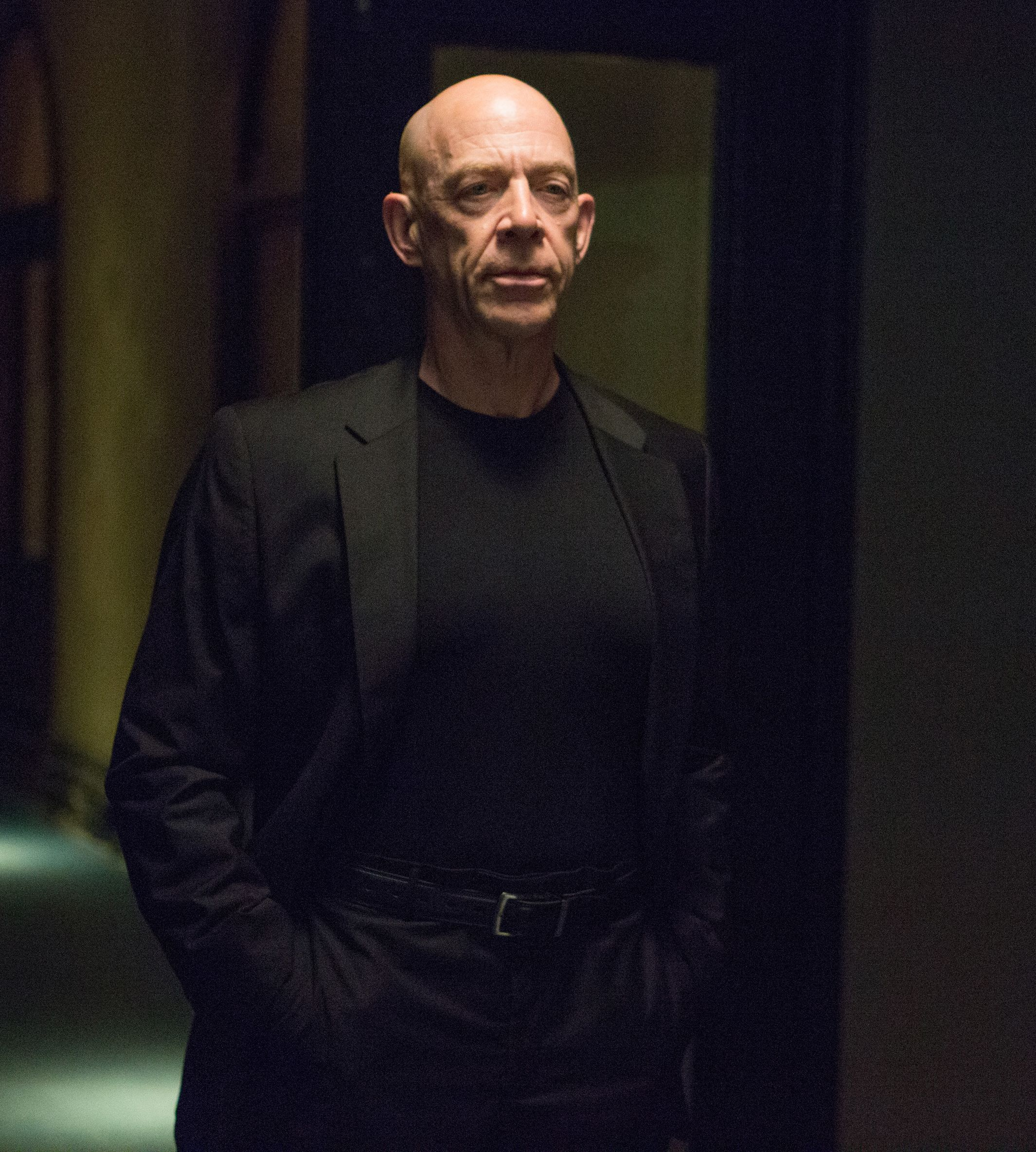 J.K. Simmons inspecting his new talent in Whiplash