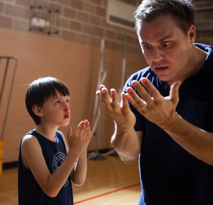 Theodore Melfi and Jaeden Lieberher - acting with blood