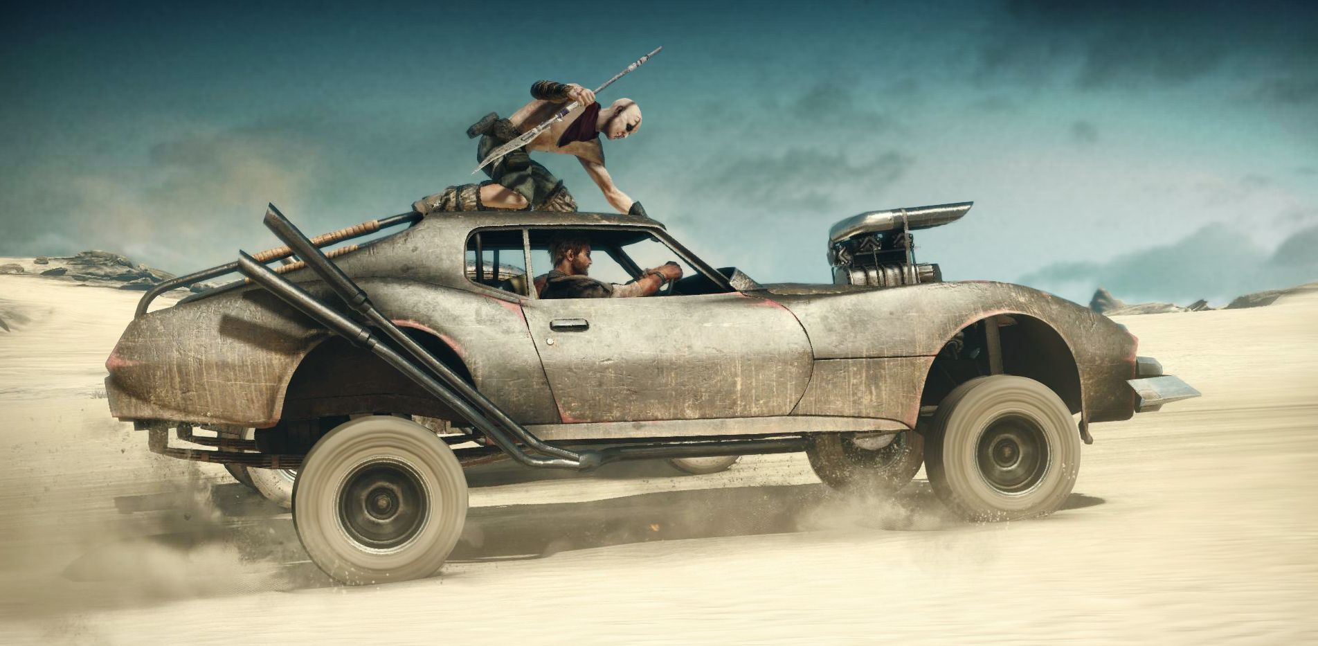 Jumping on top of car - Mad Max: Fury Road