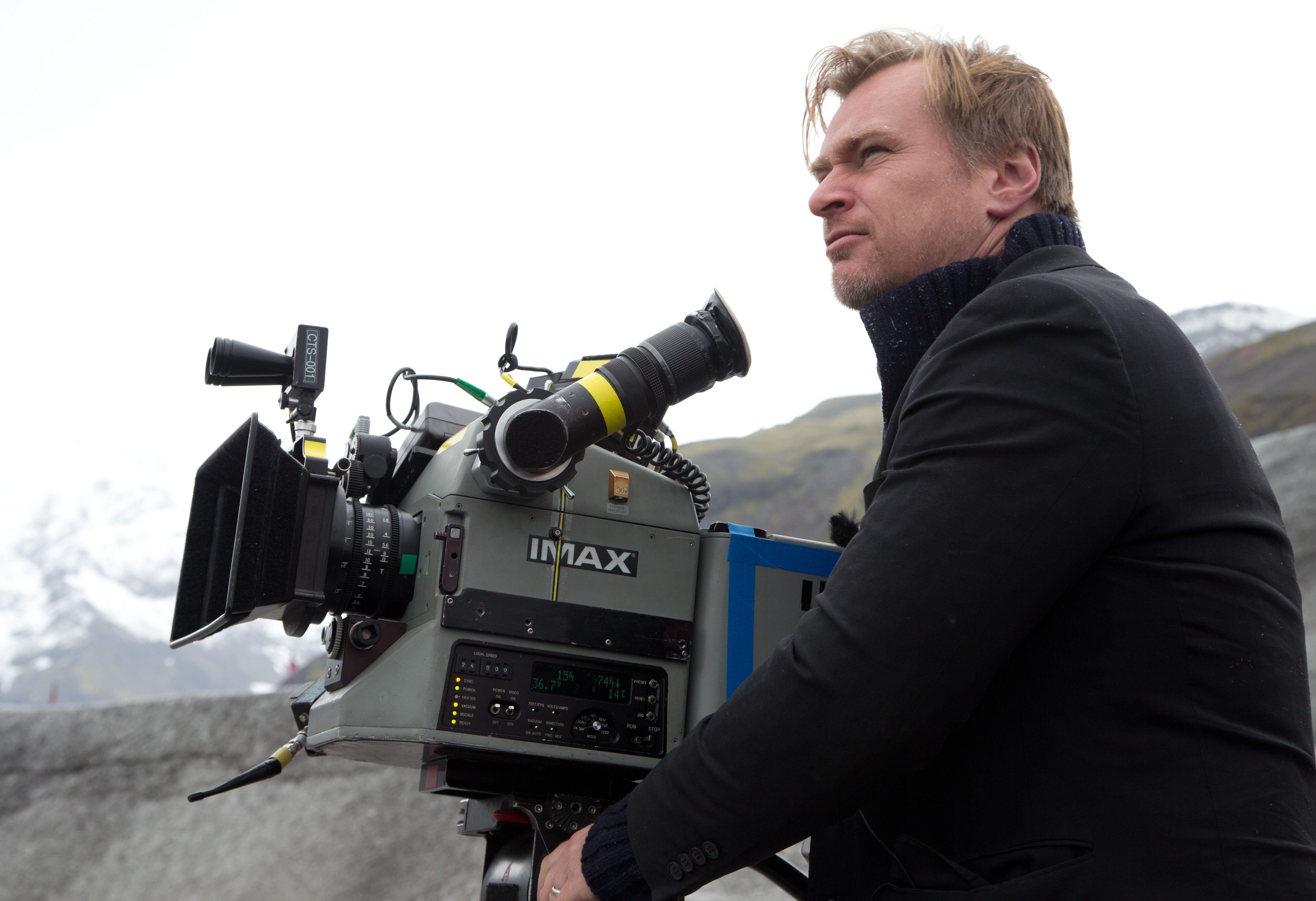 Christopher Nolan filming IMAX, Interstellar