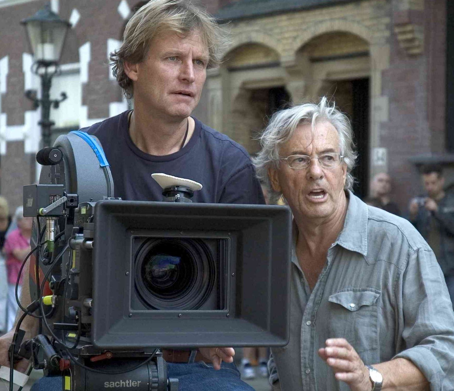 Director Lenny Abrahamson working with Paul Verhoeven